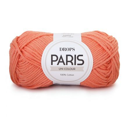 DROPS Paris Uni Colour - 01 abrikoos - Katoen Garen