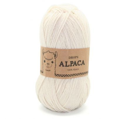 DROPS Alpaca Uni Colour - 100 naturel - Wol Garen