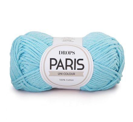 DROPS Paris Uni Colour - 02 lichtturkoois - Katoen Garen