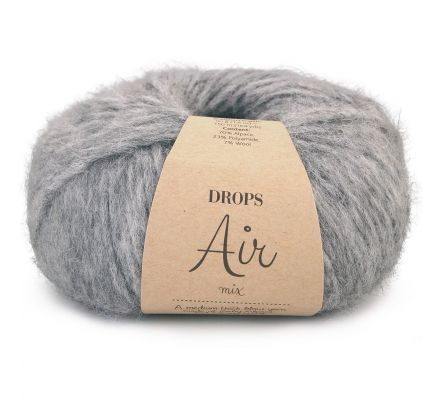 DROPS Air Mix 04 medium grijs / medium-grey - Alpaca wol garen