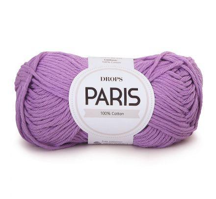 DROPS Paris Uni Colour - 05 lila / lichtpaars - Katoen Garen