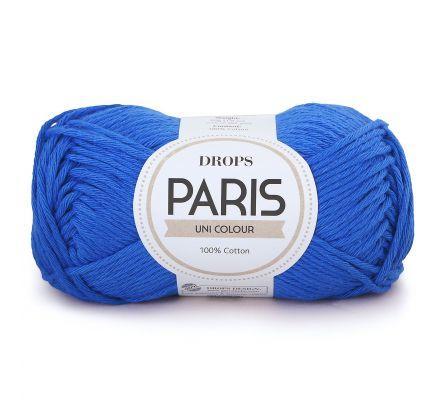 DROPS Paris Uni Colour - 09 koningsblauw / kobaltblauw - Katoen Garen