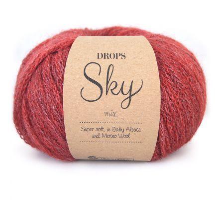 Drops Sky Mix 09 steenrood / brick red - Baby Alpaca garen