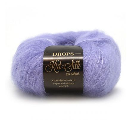 DROPS Kid-Silk Uni Colour - 11 lila - Mohair Garen