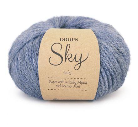 DROPS Sky Mix 12 denimblauw / jeansblauw - Alpaca Wol Garen