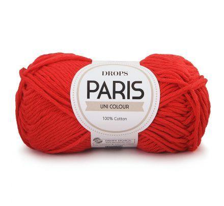DROPS Paris Uni Colour - 12 rood - Katoen Garen