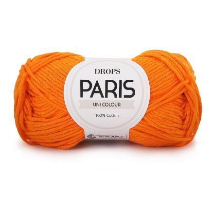 DROPS Paris Uni Colour - 13 oranje - Katoen Garen