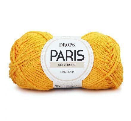 DROPS Paris Uni Colour - 14 geel - Katoen Garen
