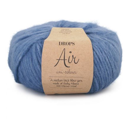 DROPS Air Uni Colour - 17 denimblauw - Wol Garen