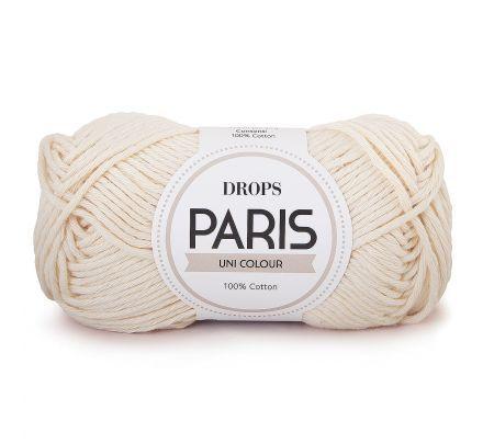 DROPS Paris Uni Colour - 17 naturel - Katoen Garen
