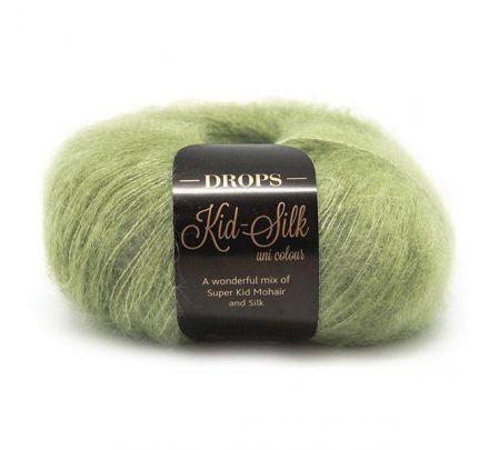 DROPS Kid-Silk Uni Colour - 18 appelgroen - Mohair Garen
