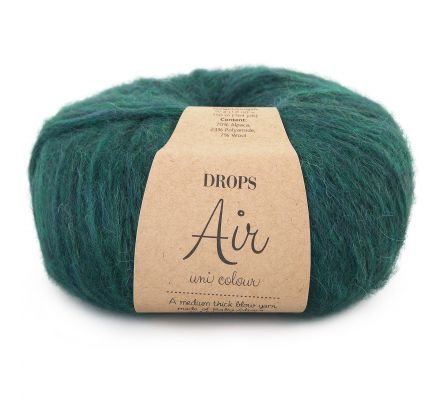 DROPS Air Uni Colour - 19 bosgroen - Wol Garen