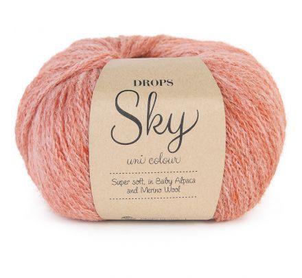 DROPS Sky Uni Colour 19 licht steenrood (brick) - Alpaca Wol Garen