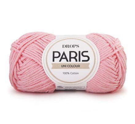 DROPS Paris Uni Colour - 20 lichtroze - Katoen Garen