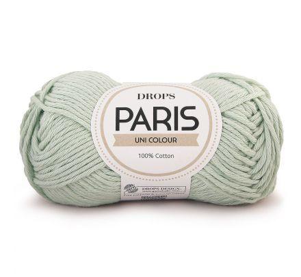 DROPS Paris Uni Colour - 21 mintgroen - Katoen Garen