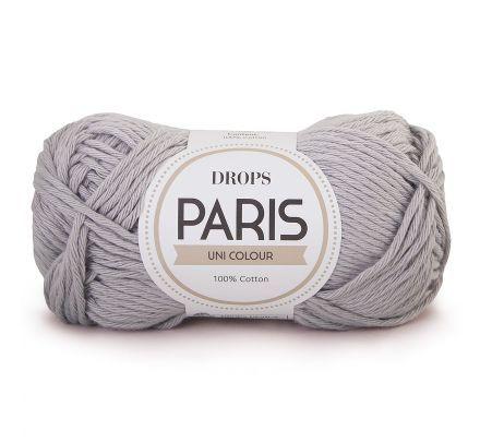DROPS Paris Uni Colour - 23 lichtgrijs - Katoen Garen
