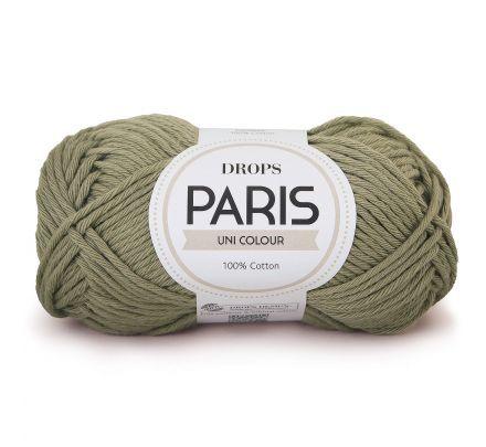 DROPS Paris Uni Colour - 25 mosgroen - Katoen Garen