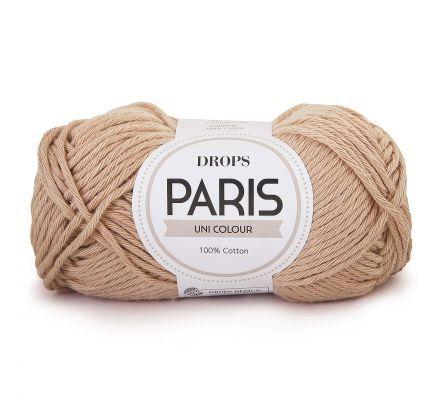 DROPS Paris Uni Colour - 26 donkerbeige - Katoen Garen