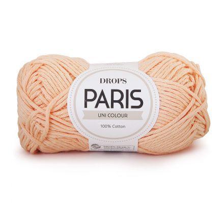 DROPS Paris Uni Colour - 27 perzik - Katoen Garen