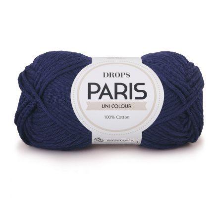 DROPS Paris Uni Colour - 28 marineblauw - Katoen Garen