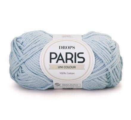 DROPS Paris Uni Colour - 29 ijsblauw - Katoen Garen
