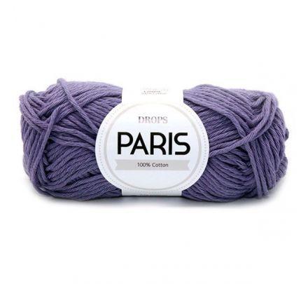 DROPS Paris Uni Colour - 31 paars - Katoen Garen