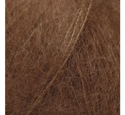 DROPS Kid-Silk 35 chocolade (uni colour) - Mohair Garen