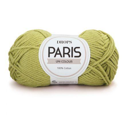 DROPS Paris Uni Colour - 39 wasabi / pistache - Katoen Garen