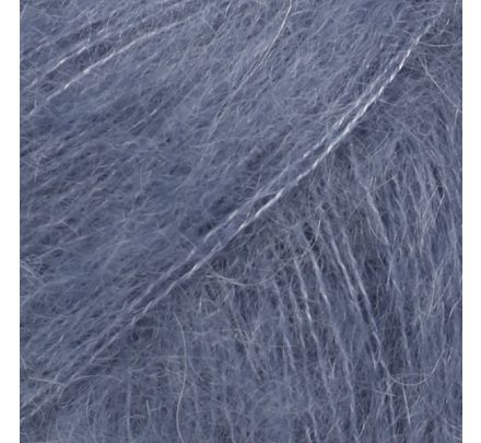DROPS Kid-Silk 39 stormblauw (Uni Colour) - Mohairwol/zijde Garen