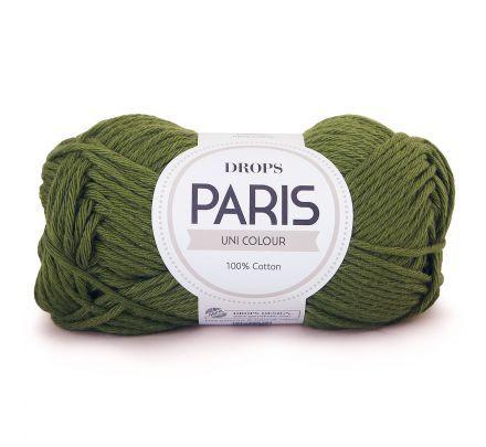 DROPS Paris Uni Colour - 43 bosgroen - Katoen Garen