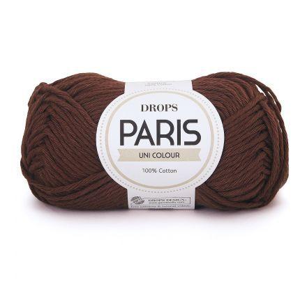 DROPS Paris Uni Colour - 44 bruin - Katoen Garen