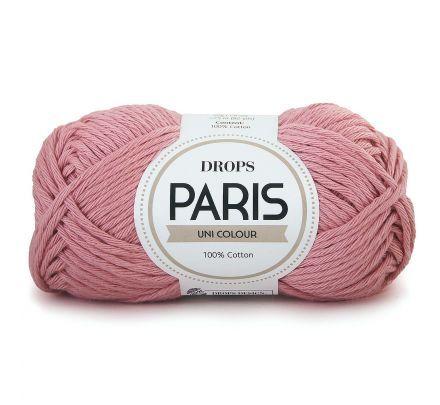 DROPS Paris Uni Colour - 59 licht oudroze - Katoen Garen