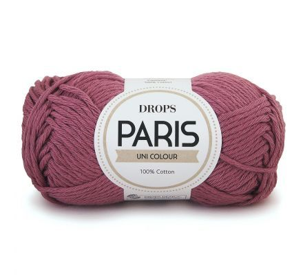 DROPS Paris Uni Colour - 60 mauve / donker oudroze - Katoen Garen