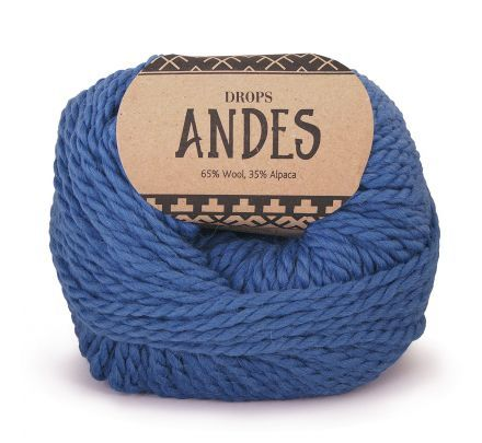 DROPS Andes Uni Colour - 6295 denimblauw - Wol & Garen