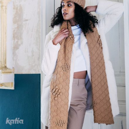 Gratis breipatroon sjaal Katia Maxi Merino