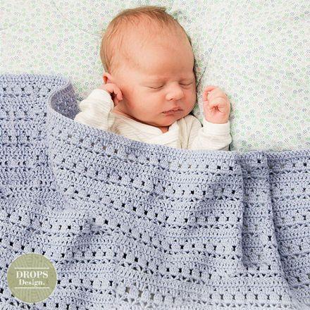 Patroon Gehaakt babydekentje met kantpatroon - dekentjes haken
