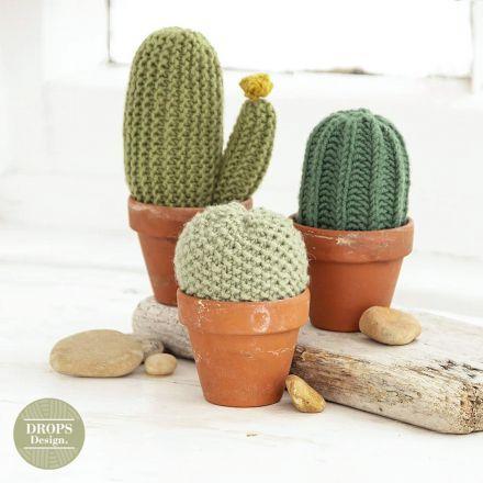 Breipatroon gebreide cactussen van Drops Merino Extra Fine - Breien