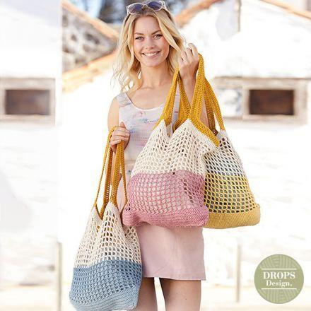 Patroon gehaakte tas voor dames - shopper