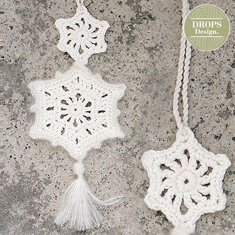 Patroon Gehaakte Sterren Decoratie Drops Design Breiwebshopnl